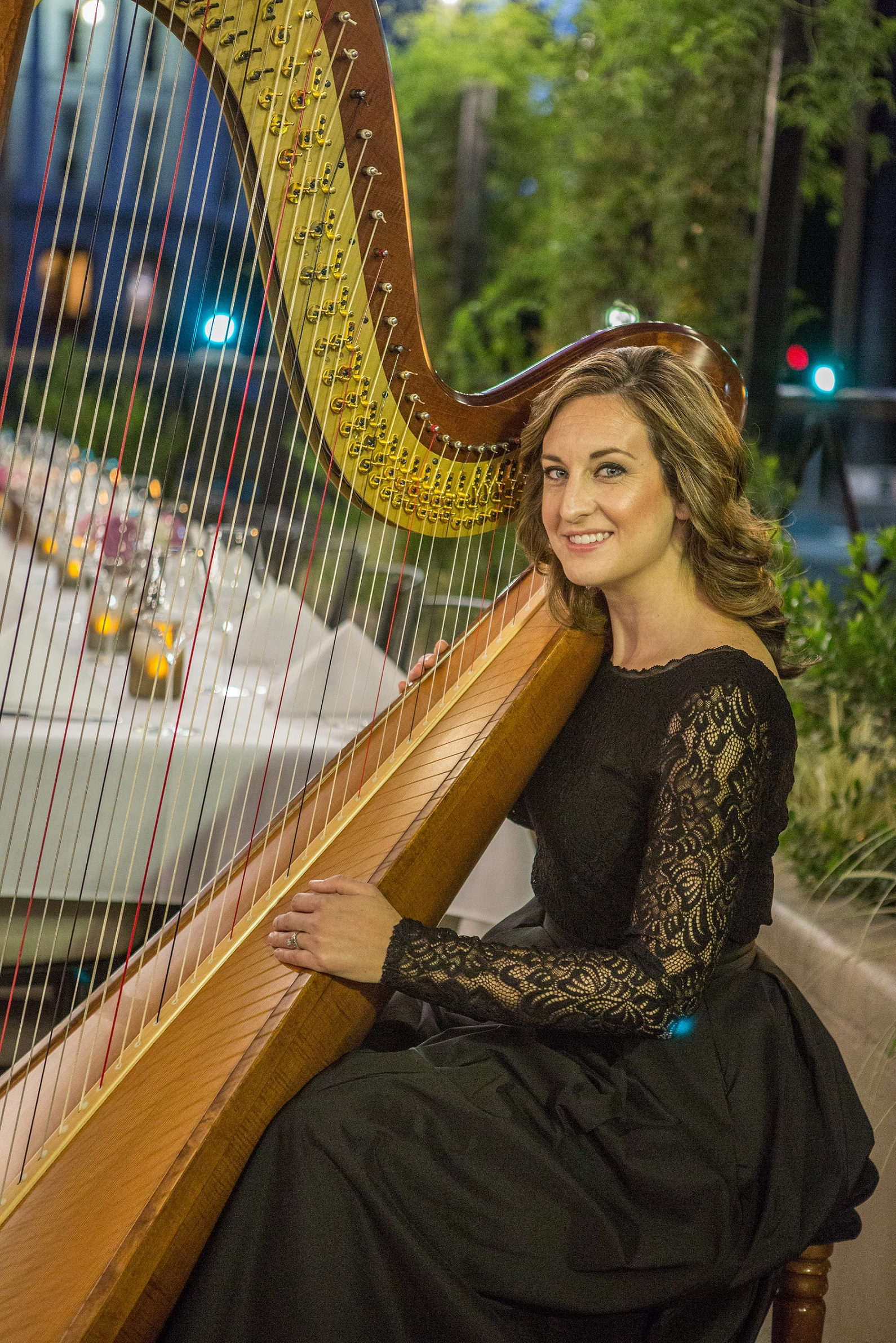 Lauren C. Sharkey, harpist